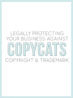 Once you decide to create something and put it out into the world you run  the riskof someone claiming it as their own. So how do your protect your  work? Today I have Brandi spilling all the tea on how to legally protect  your business from copycats!    The primary value of a creative business lies in what you have created—your  content, designs, novel ideas, and products. In short: your intellectual  property. Uniqueness is the strongest niche in creativity. However, as  your…