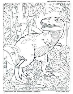 Tyrannosaurus coloring, dinosaurs coloring
