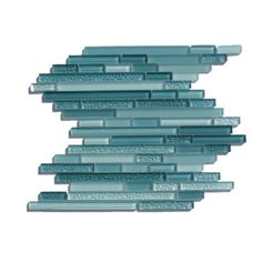 aqua glass backsplash