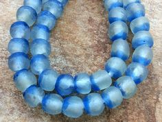 African recycled Glass beads14 mm African Glass by RedEarthBeads
