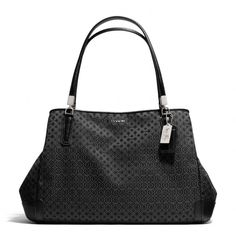The Madison Cafe Carryall In Op Art Pearlescent Fabric from Coach