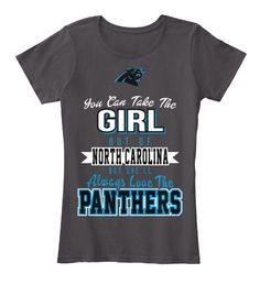 No matter where you live, you will always love your Carolina Panthers! Show it off with this officially licensed premium tee! Available in both women's and unisex fits.