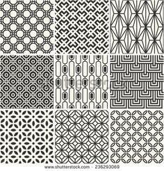 Endless texture for wallpaper, pattern fills, web page background,surface. Set of monochrome geometric ornaments. Geometric Patterns, Simple Geometric Pattern, Wood Patterns, Textile Patterns, Tatuagem Old Scholl, Monochrome, Tattoo Sleeve Filler, Geometric Sleeve, Japanese Patterns
