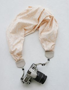 this week's featured bluebird chic scarf camera strap – pink blush berry branch