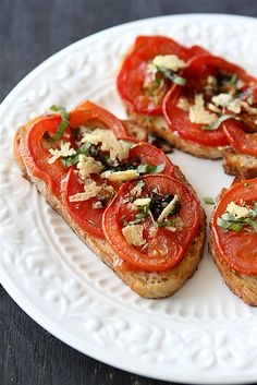 Roasted Tomato Sandwich Recipe with Goat Cheese & Balsamic Syrup | cookincanuck.com #vegetarian