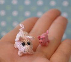 Micro Pig, free pattern