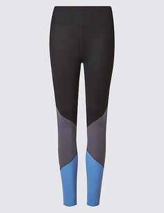 Sumptuosly Soft Colour Blocked Leggings | Marks & Spencer London