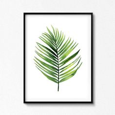 Palm Leaf Palm Print Palm Leaf Watercolor Palm Tree