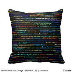 Swedesboro Text Design I Throw Pillow