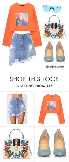 """""""Untitled #356"""" by zoefashionsite on Polyvore featuring Gucci, Christian Louboutin and Christian Dior"""