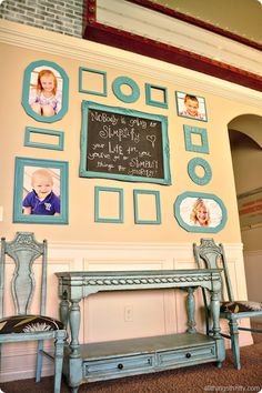 Love this gallery wall design from All Things Thrifty! #gallery  I WANT TO DO THIS IN MY DINING AREA!!! AH