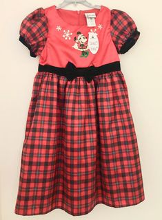 Disney Parks Minnie Christmas Dress for Kids  NEW  Size L   FREE SHIPPING