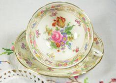dresden sprays/ hammersley china/ tea cup and by VieuxCharmes