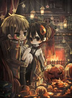 Tuma (TUMART), Axis Powers: Hetalia, United Kingdom, Japan, Halloween, Pumpkin, England