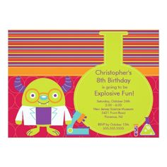 Science Birthday Party Invitations Science Birthday Party Invitation