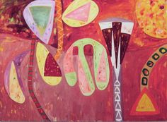 "Gillian Ayres Painting ""Sang The Sun In Flight"". by Jim Linwood, via Flickr"