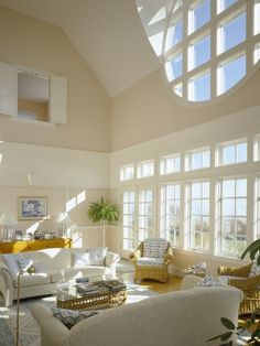 Catalano Architects, Boston, MA - Love the windows (can never have too much natural light) and the little window upstairs with the shutters! Beautiful Interiors, Beautiful Homes, Beautiful Space, Interior And Exterior, Interior Design, Living Spaces, Living Rooms, Family Rooms, My Dream Home