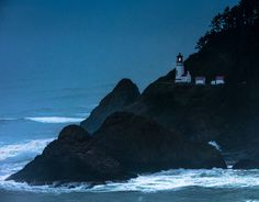 This was such a cool area in Oregon along the cliffs over the pacific ocean. I just had to stop after sunset.