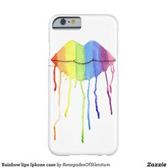 Rainbow lips Iphone case Barely There iPhone 6 Case