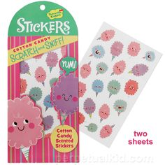 COTTON CANDY SCRATH & SNIFF STICKERS! LOL