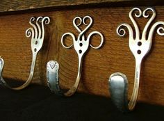 Recycled Forks make great hooks!--I seriously need to get to DI and find some forks!!