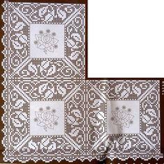 crochet em revista: esquema crochet toalhas 2 of 3