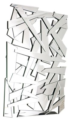 Looking like layered shards of glass, this mirror will be a feature for your wall. It can be displayed portrait or landscape and will look great as a contemporary piece of wall art. Contemporary Wall Mirrors, Modern Mirrors, Black Mirror, Diy Projects To Try, Just Giving, Sofa Design, Modern Furniture, How To Find Out, Stylish