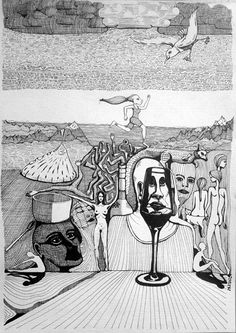 Through glass mnutz 2012 Pen Drawings, Black And White, Paper, Glass, Painting, Art, Art Background, Black N White, Drinkware