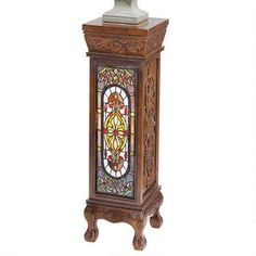 Baldwin Beaux-Arts Illuminated Stained Glass Hand-Carved Pedestal Was: $329.00           Now: $249.00