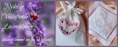 Lavender bags // Lavendelposer for deilig duft, oppbevaring av ulltøy og beroligende oljer. Kjøp de hos oss i Herr&Fru Jørgensen.