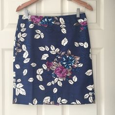 """Floral pencil skirt from Ann Taylor Such a beautiful print on this skirt! Back zip. Excellent condition, worn once. 19.5"""" Ann Taylor Skirts Pencil"""