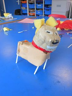 Animal sculpture and collage with students at Philip Southcote School www.accessart.org.uk