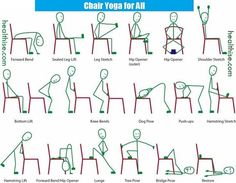 Chair Yoga poses seniors juniors joint pain patients