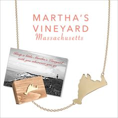 Martha's Vineyard Original Necklace by Kerry Gilligan. Available in solid 14k yellow gold or sterling silver. Packaged in a Martha's Vineyard wooden box.