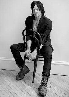 Norman Reedus photographed by Eric Guillemain for L'Uomo Vogue