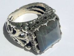 925 Sterling Silver Men's Ring with Totally Handmade