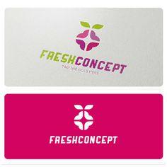 Fresh Concept Logo is suitable for: food industry, fruit shop, graphic design studio, gift shop, catering, bio, interior design, etc