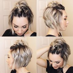 15 best cute bob hairstyles 202015 best cute bob hairstyles 202025 Pixie Short Hairstyle Ideas For Women Trend bob hairstyles 201925 Pixie Short Hairstyle Ideas For Women Trend Bob Hairstyles 2019 haare haarschnitt frisuren trendfrisuren Braids For Short Hair, Cute Hairstyles For Short Hair, Pixie Hairstyles, Short Hair Cuts, Curly Hair Styles, Braided Short Hair, Short Bob Updo, Pixie Updo, Short Hair Top Knot