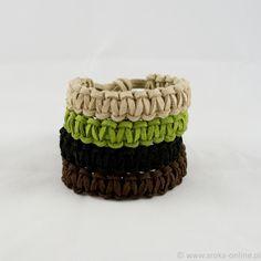 Eco-leather bracelets - Sroka Online