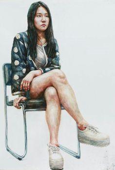 인체수채화,써니 Sitting Poses, Portrait Poses, Model, People, Water, Painting, Photos, Gripe Water, Folk