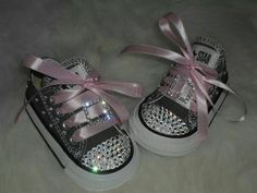 Blinged out baby shoes found on esty.com
