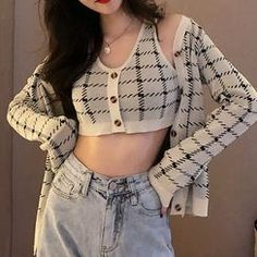 Discover fashion and beauty online with YesStyle! Shop for Women's Tops - FREE Worldwide Shipping available! Kpop Fashion, Cute Fashion, Korean Fashion, Girl Fashion, Fashion Outfits, Womens Fashion, Fashion Tips, Modest Fashion, Ulzzang Fashion Summer