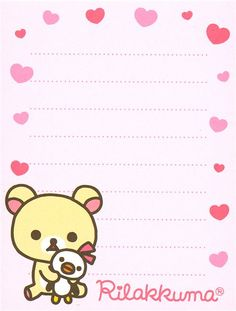 Rilakkuma mini Memo Pad Korilakkuma bear heart kawaii  4