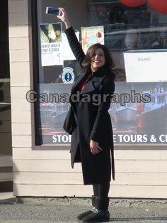Lana Parrilla on set - March 29, 2016
