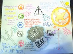Mixed Fan Art: Harry Potter, Hunger Games, The Fault in our Stars, Percy Jackson, Divergent, Delirium  Credit @Miranda Herbert