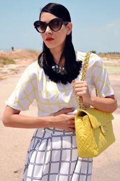 Loving the yellow Chanel bag