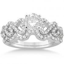 Allurez Heart Shape Diamond Engagement & Wedding Ring 14k White Gold (0.50ct)
