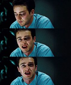 """You can swallow a pint of blood before you get sick."" - FIGHT CLUB"