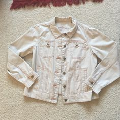 Vintage White Denim Jacket Never worn. Vintage Jackets & Coats Jean Jackets