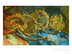 Four Cut Sunflowers, c.1887 Giclee Print by Vincent van Gogh at AllPosters.com